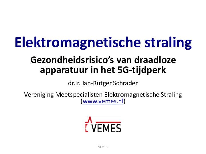 Elektromagnetische straling - Gezondheidsrisico's van draadloze apparatuur in het 5G-tijdperk