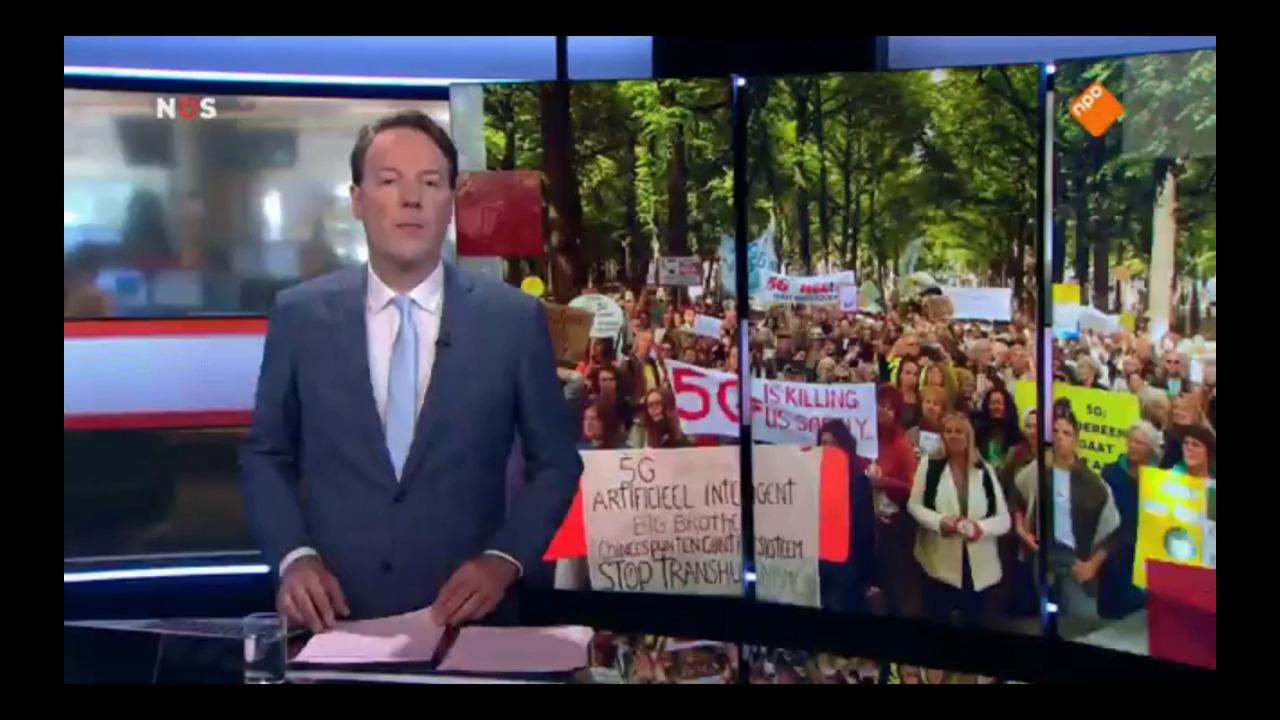 NOS-journaal 9 sep. 2019: 5G demonstratie in Den Haag