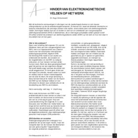 Schooneveld_H (2014) Hinder van EMV op het werk
