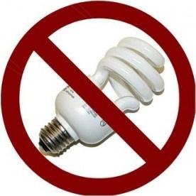 geen spaarlamp